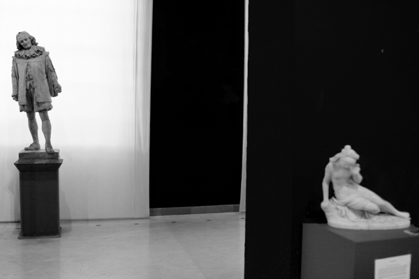Shyness at Arts museum of Naples, Italy